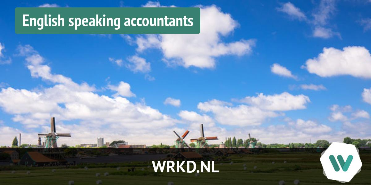 English speaking accountants and bookkeepers in the Netherlands
